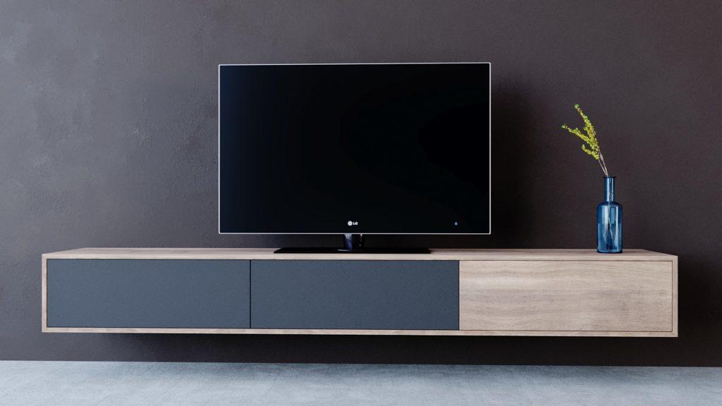 wizualizacja 3d szafki z tv